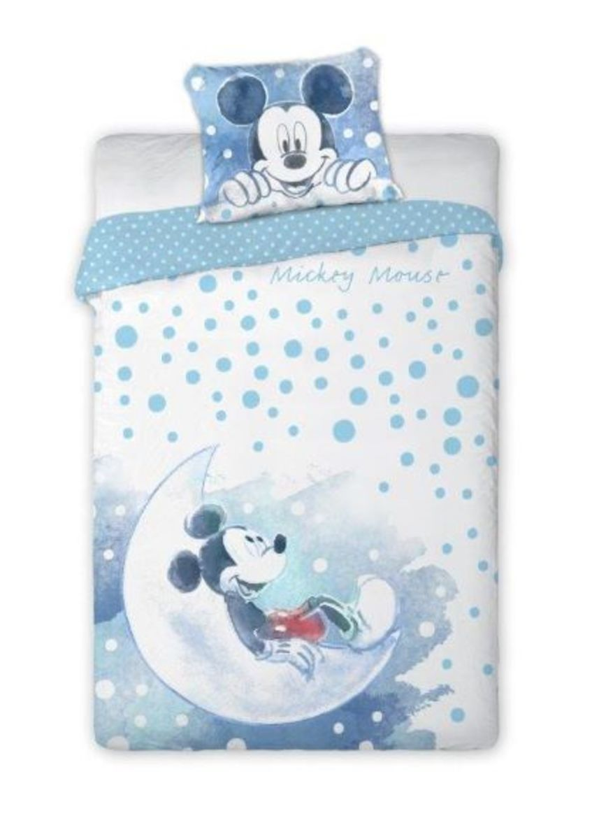 Detské obliečky Mickey Mouse - modrá 135x100 + 60x40 cm