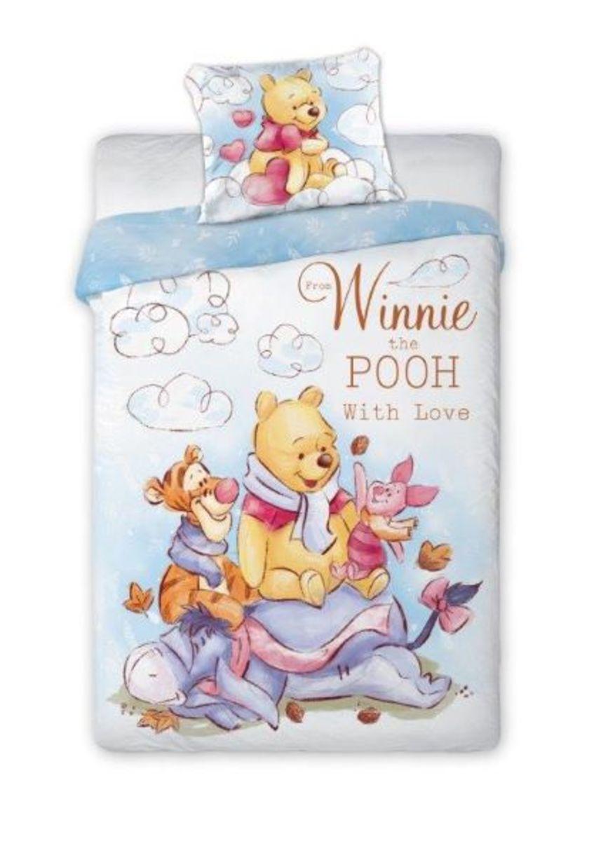Detské obliečky Medvedík Pú a priatelia 140x200 cm + 70x90 cm Winnie Pooh