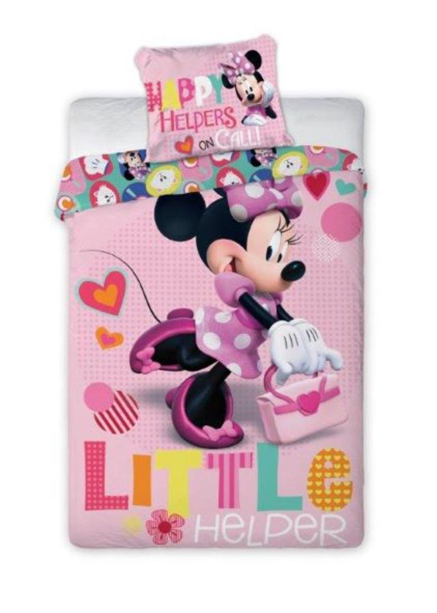 Detské obliečky Minnie Mouse - Little helper 140x200 cm + 70x90 cm