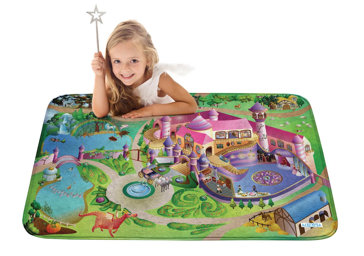 Detský hrací koberec Soft Zámok 100x150 cm