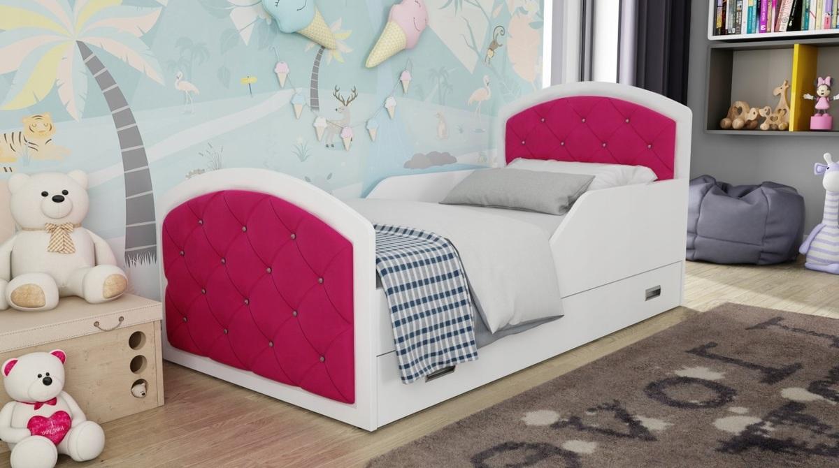 Detská posteľ Ourbaby Dark Pink 160x80 cm