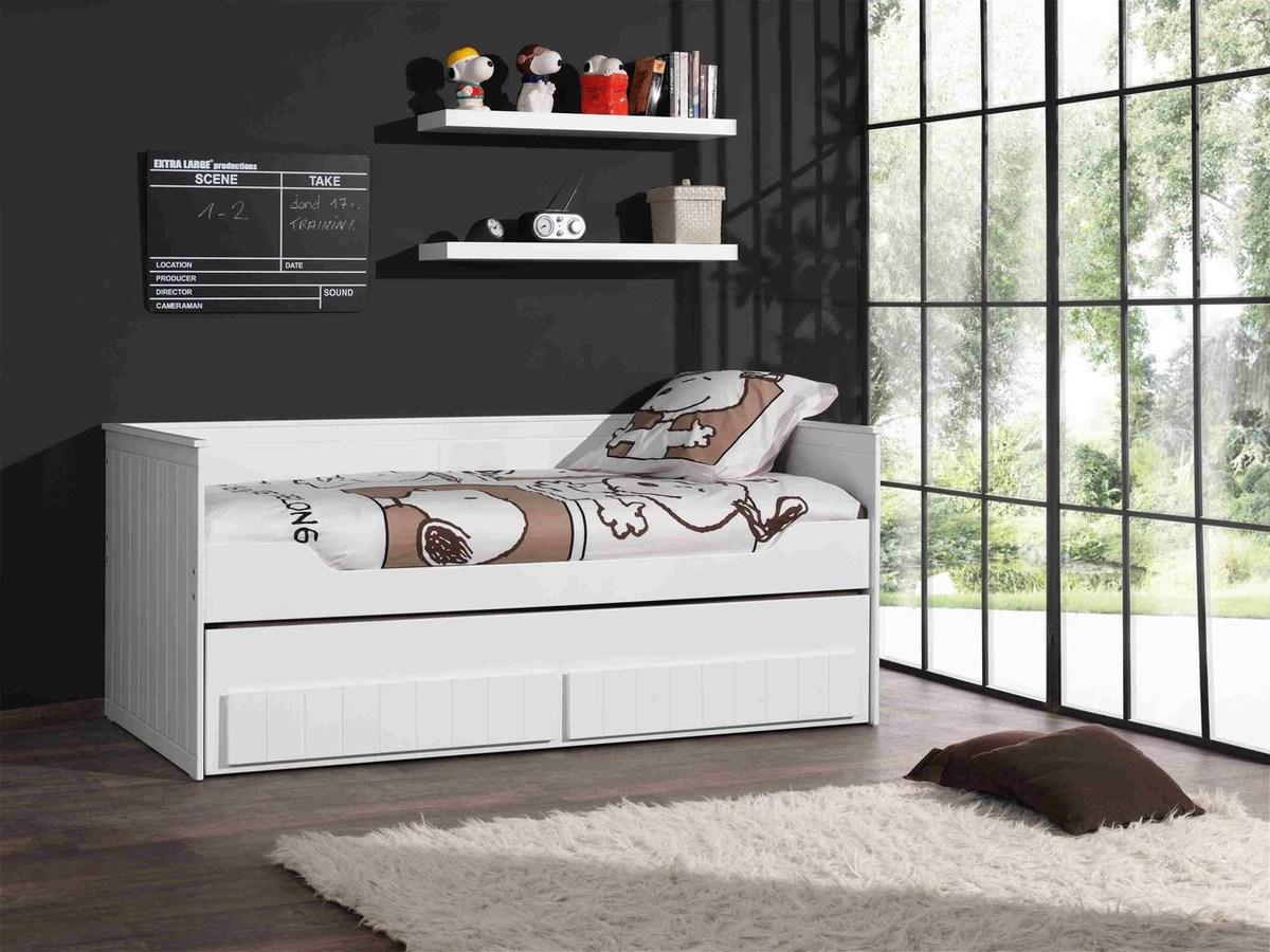 Detská posteľ VIPACK FURNITURE Robin cabin bed biela 200x90 cm