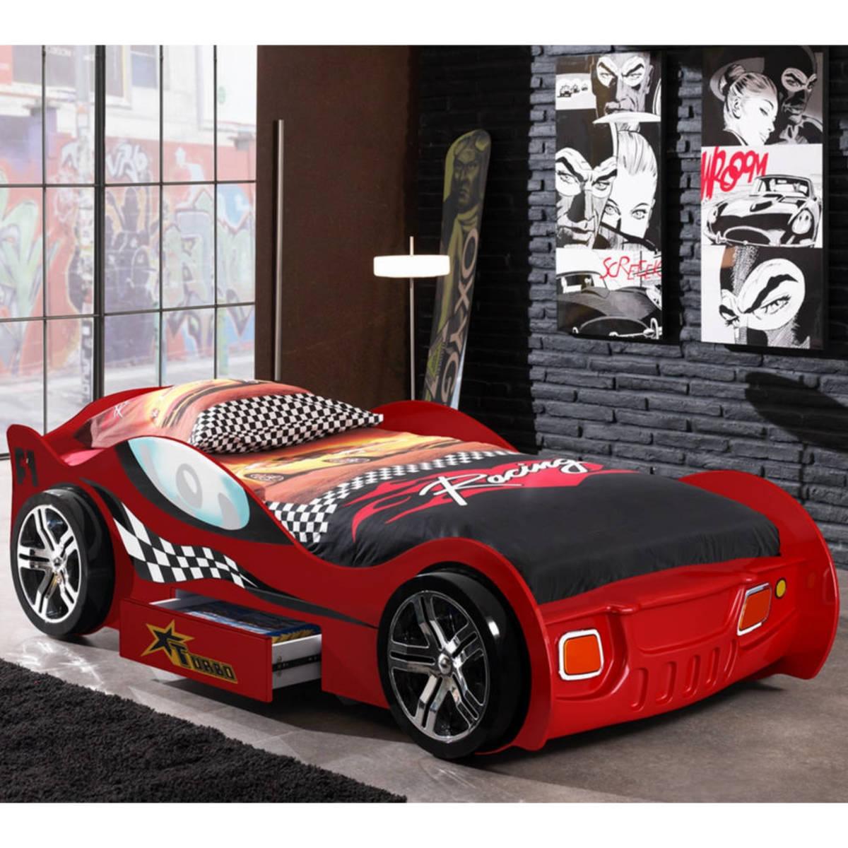 Detská posteľ auto Turbo Racing - červená Car