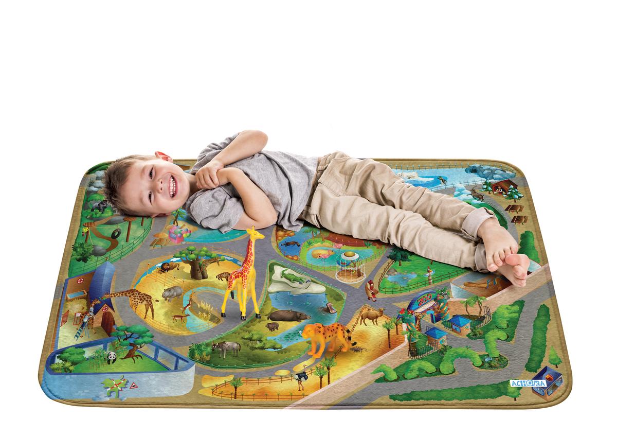 Detský hrací koberec Soft Zoo 100x150 cm