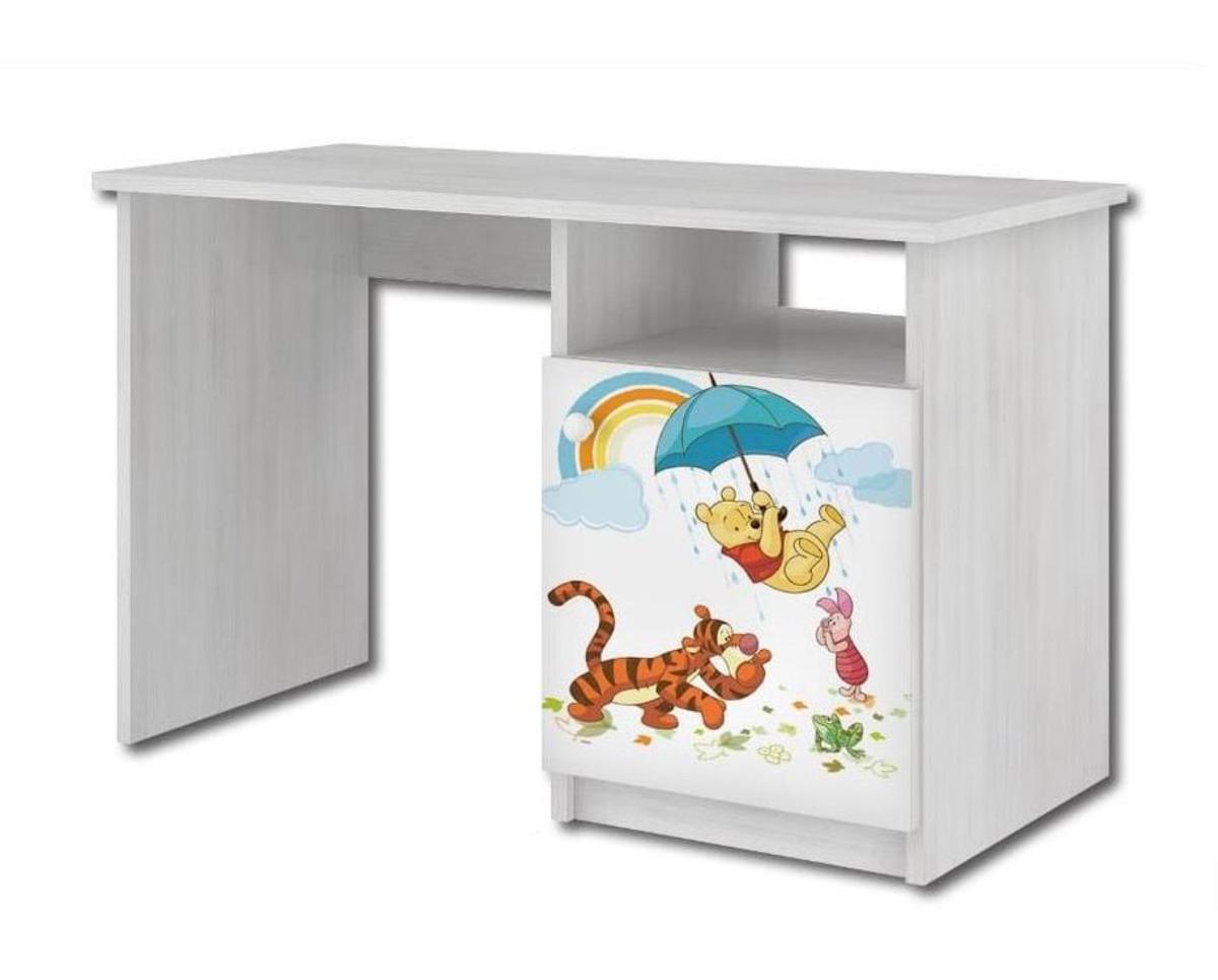 Detský písací stôl - Medvedík Pú a dúha - dekor nórska borovica Desk Winnie-thePooh and rainbow