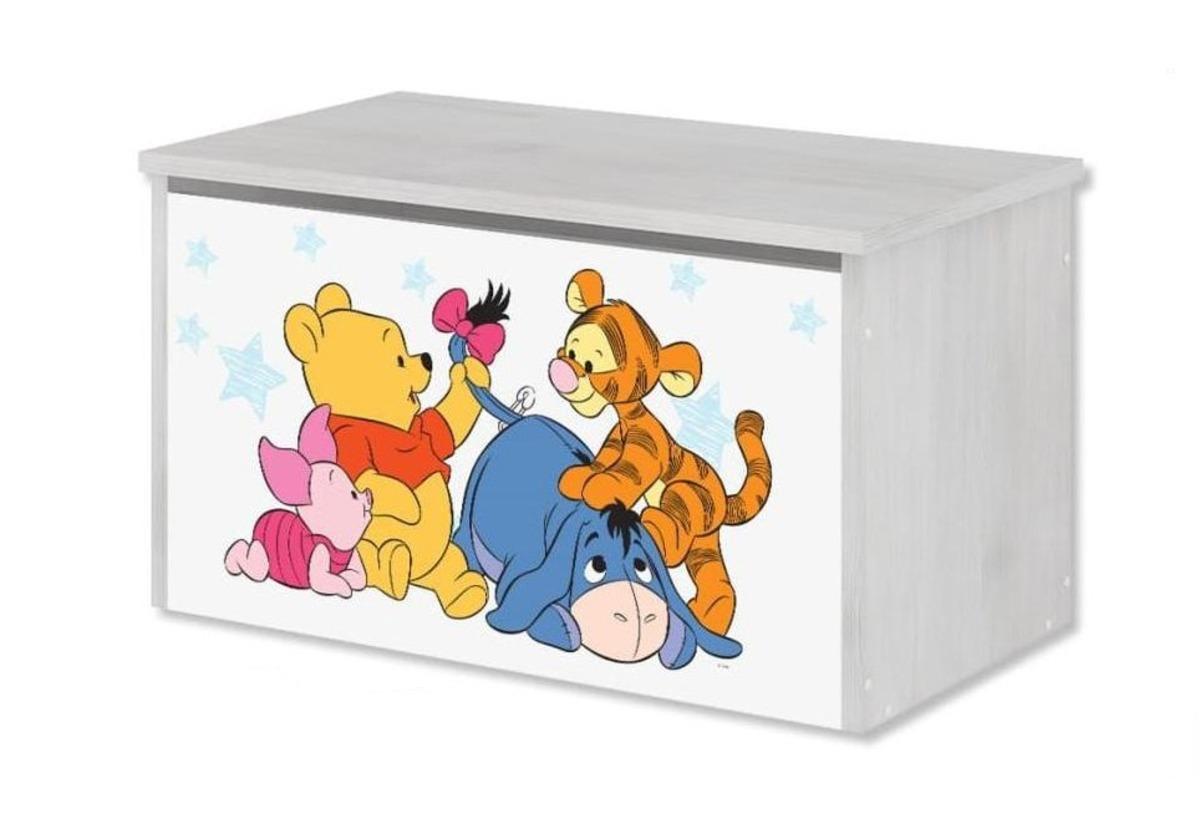 Drevená truhla na hračky Disney - Medvedík Pú a kamaráti toy chest Winnie Pooh baby