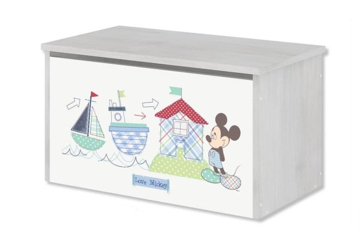 Drevená truhla na hračky Disney - Mickey Mouse toy chest