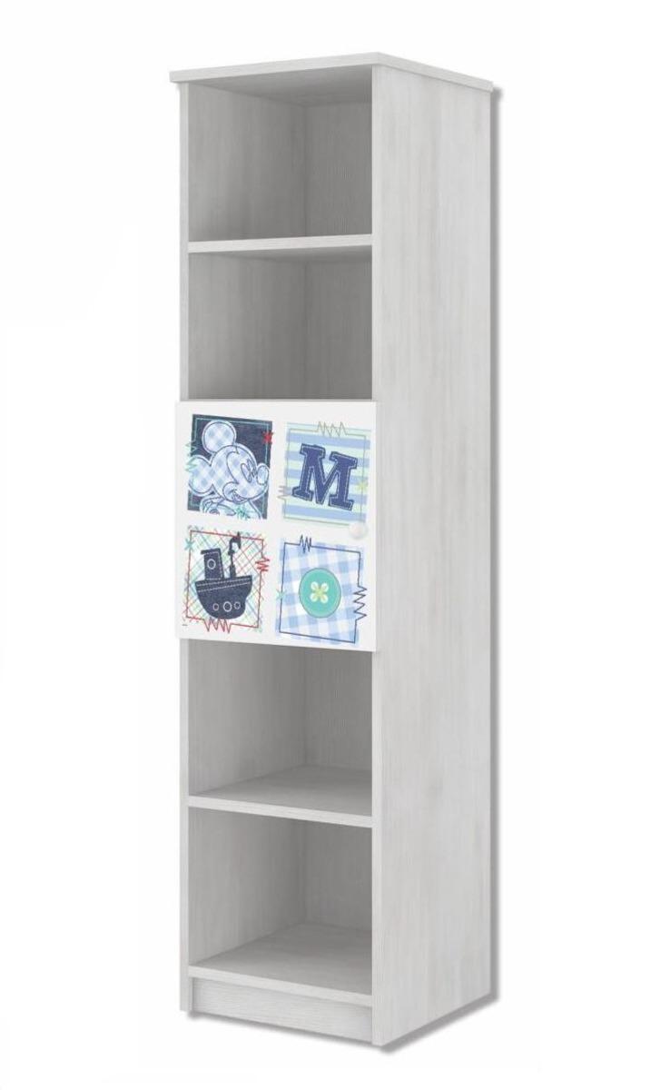 Detský úložný regál Mickey Mouse - dekor nórska borovica bookshelf rack