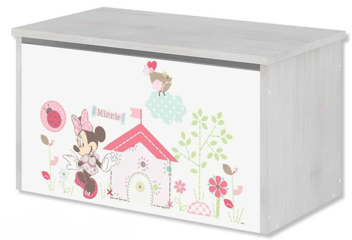 Drevená truhla na hračky Disney - Minnie Mouse toy chest