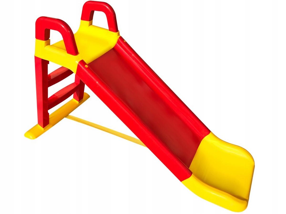 Detská šmýkačka Happy 140 cm - červeno-žltá R and Y slide