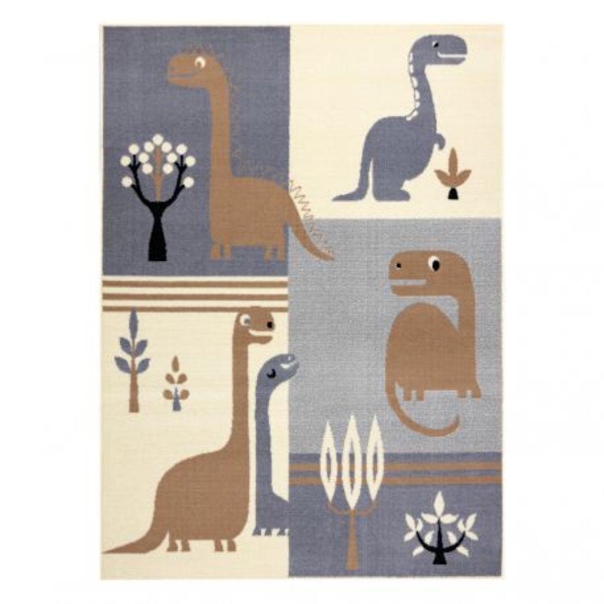 Detský koberec Dinosaurie svet - šedo-hnedý Dinosaur Rug 200 x 300 cm