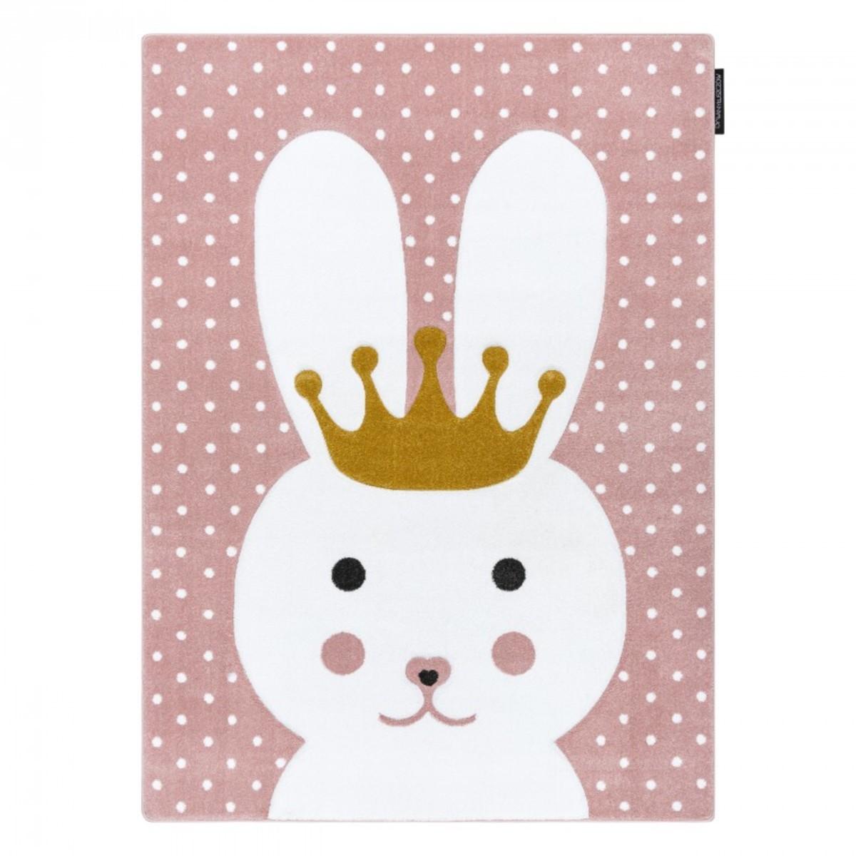 Detský koberec PETIT - Králíček - ružový Bunny rug - pink 120 x 170 cm
