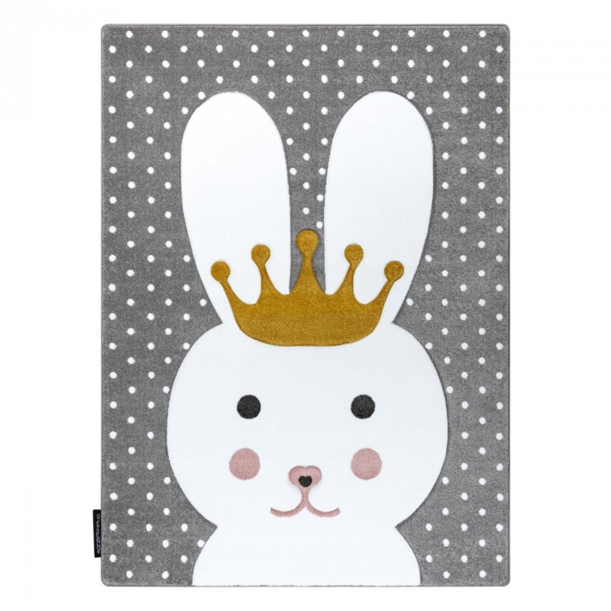 Detský koberec PETIT - Králíček - sivý Bunny rug - grey 120 x 170 cm