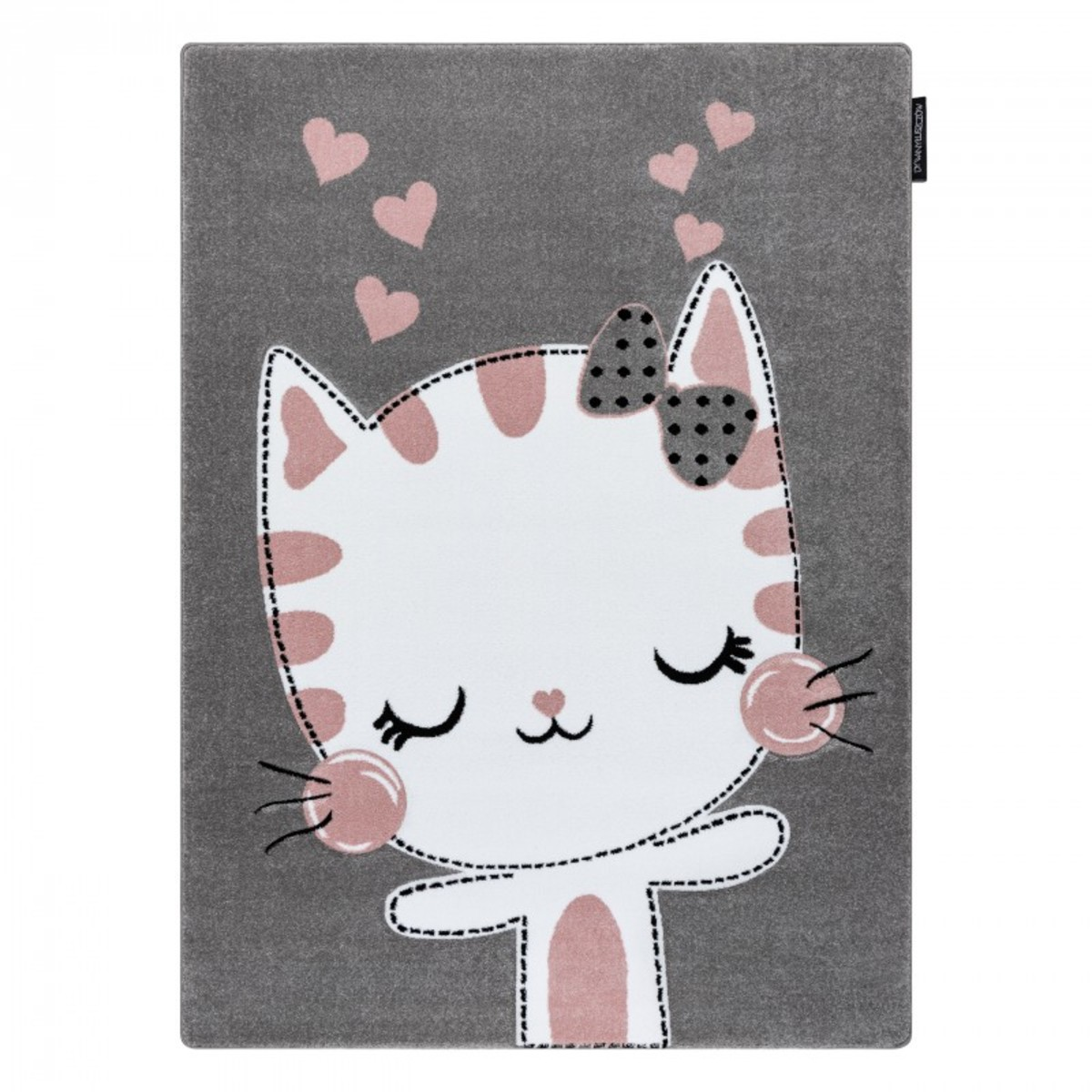 Detský koberec PETIT - Mačička - sivý Kitty rug - grey 80 x 150 cm