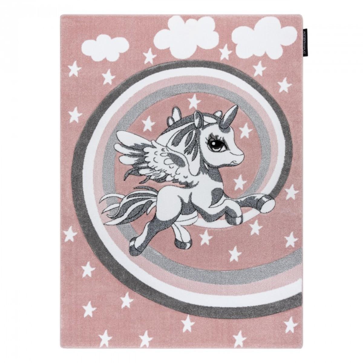 Detský koberec PETIT - Jednorožec - ružový Unicorn rug - pink 120 x 170 cm
