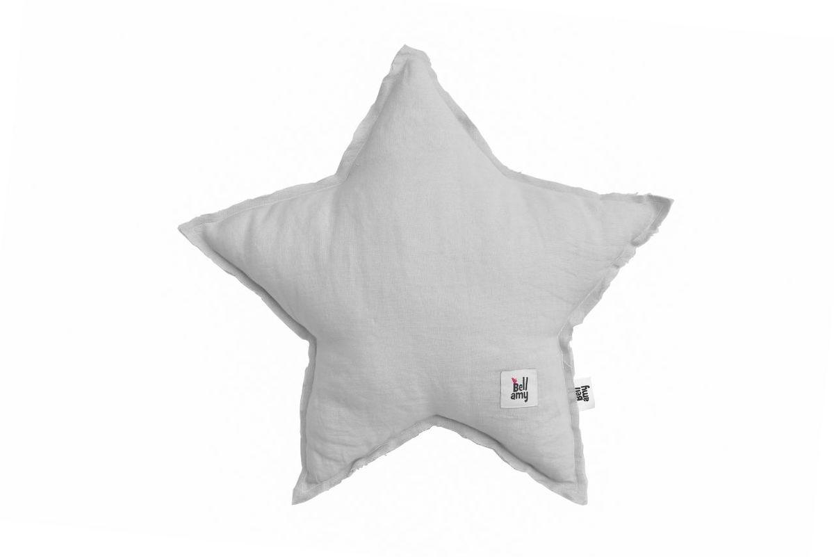 ľanový vankúš Hviezda - šedý