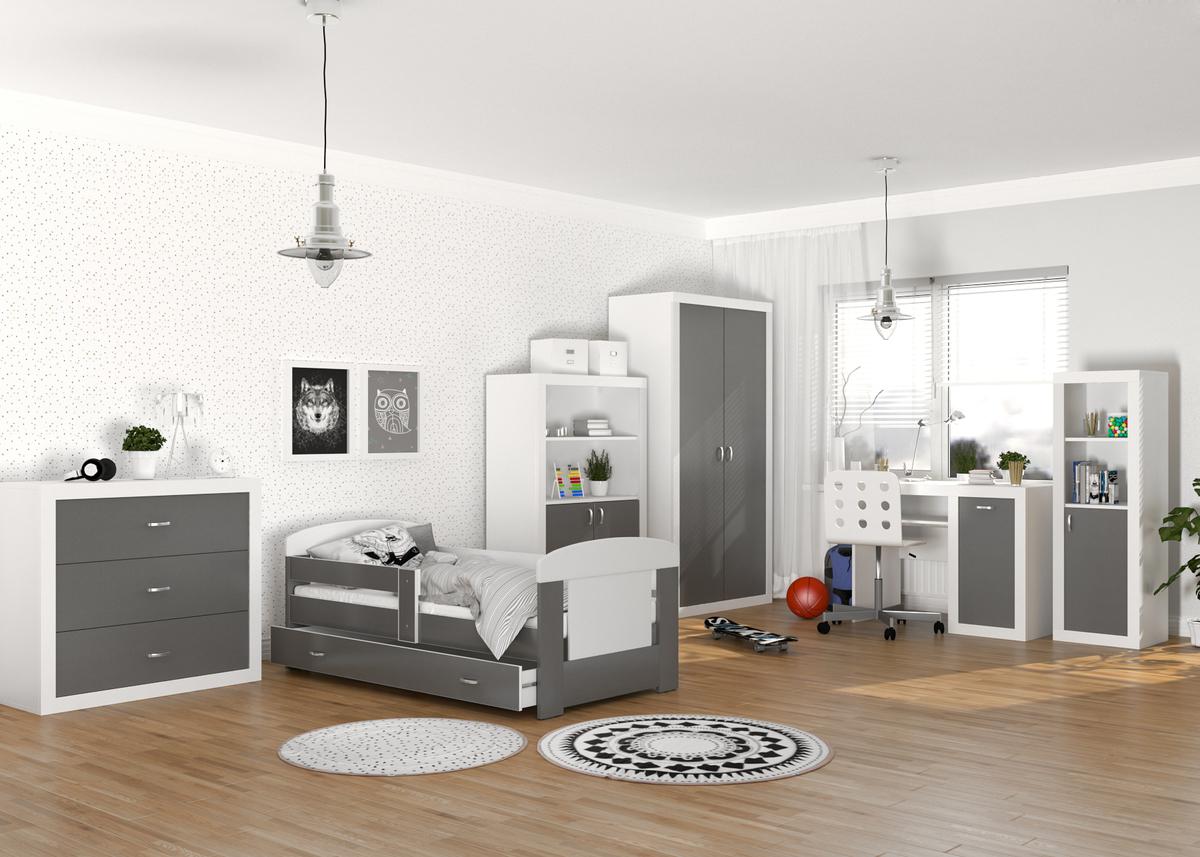 Detská izba Filip - bielo-sivá písací stôl