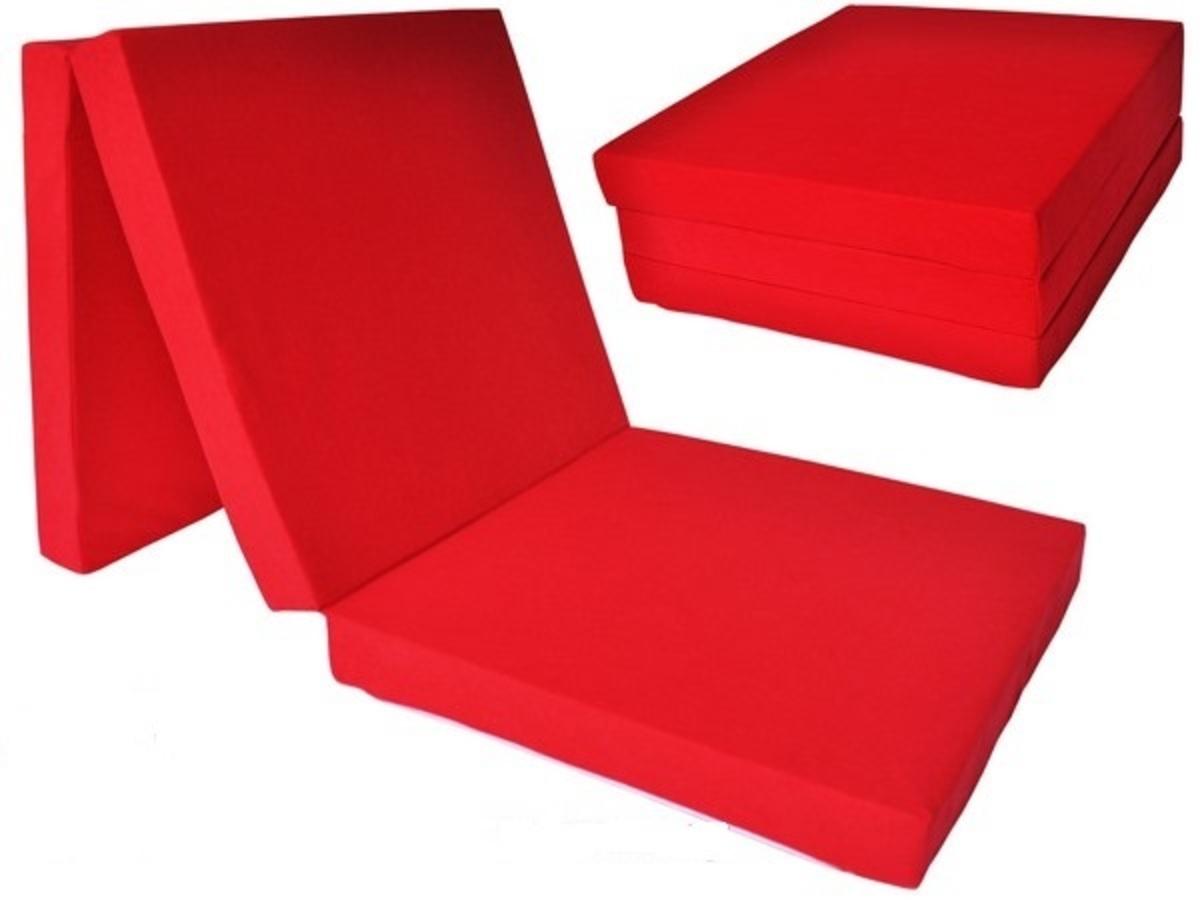 Skladací matrac - rôzne farby FRIEND červená