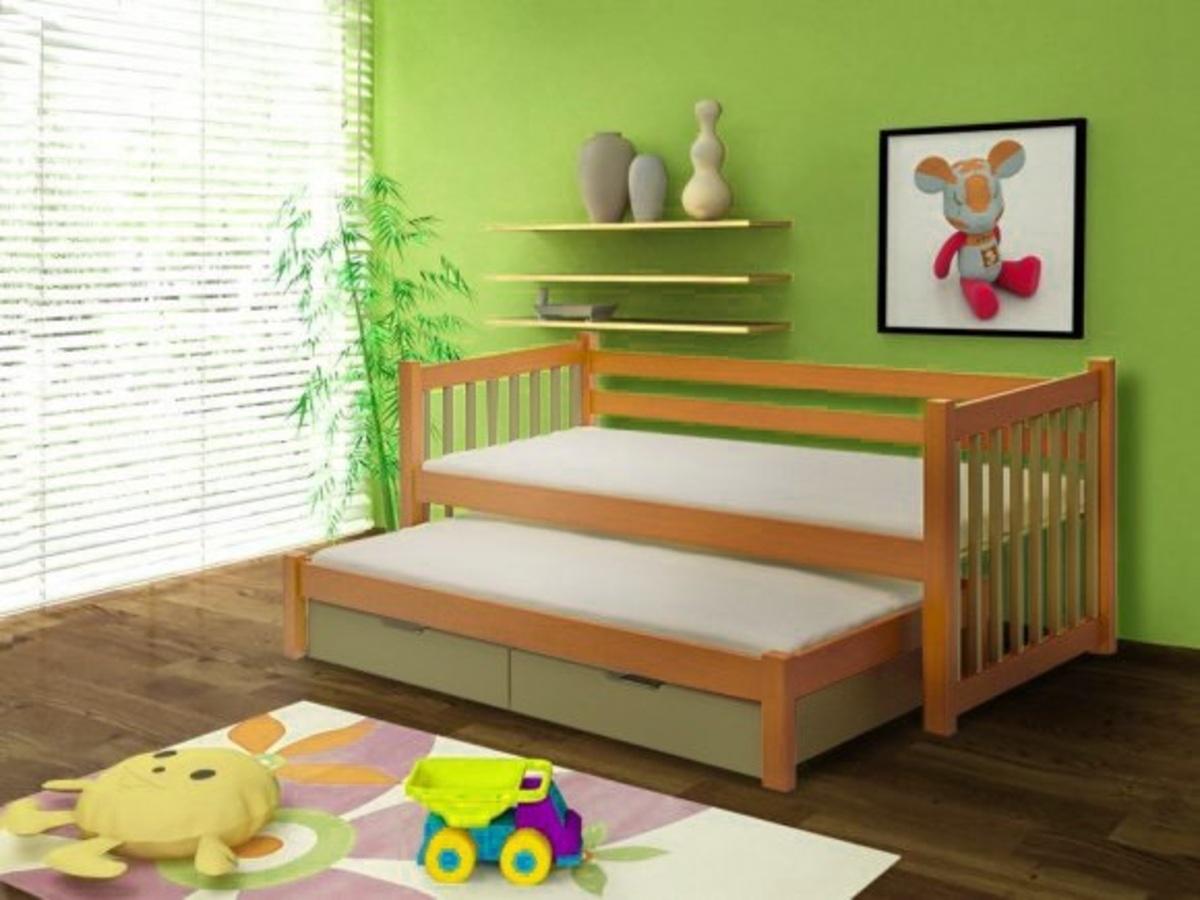 Detská posteľ Ourbaby Kajetan jelša zelená 200x90 cm