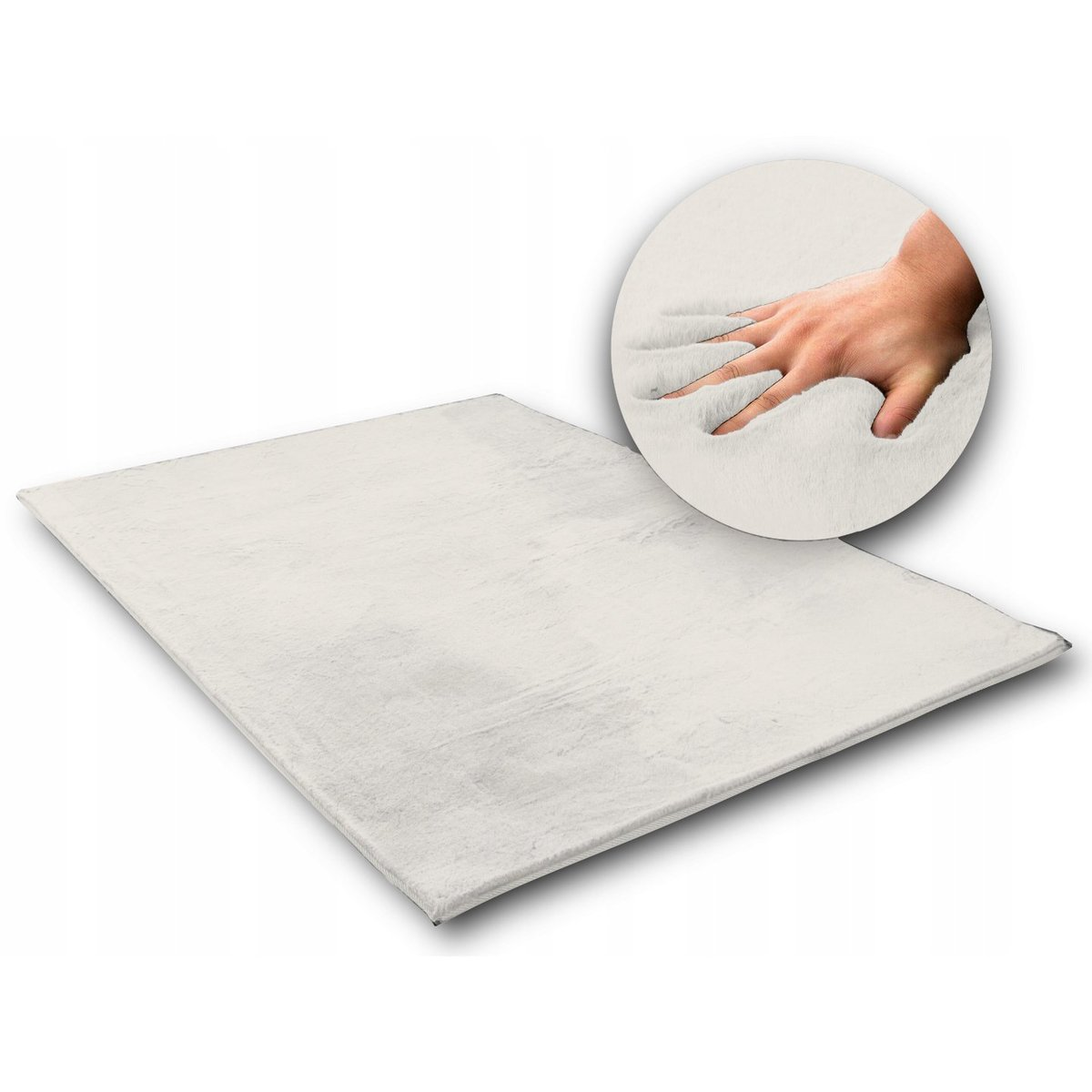 Hodvábny koberec Rabbit - biela ecru white 120 x 170 cm