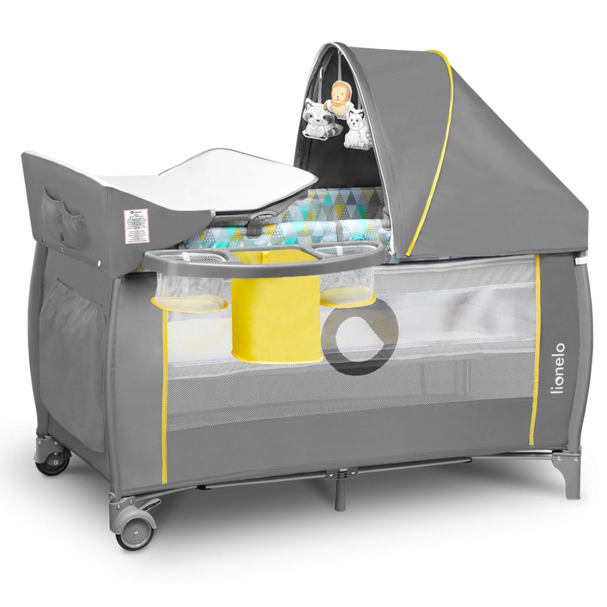Lionelo Holiday bed - yellow scandi sivá žltá