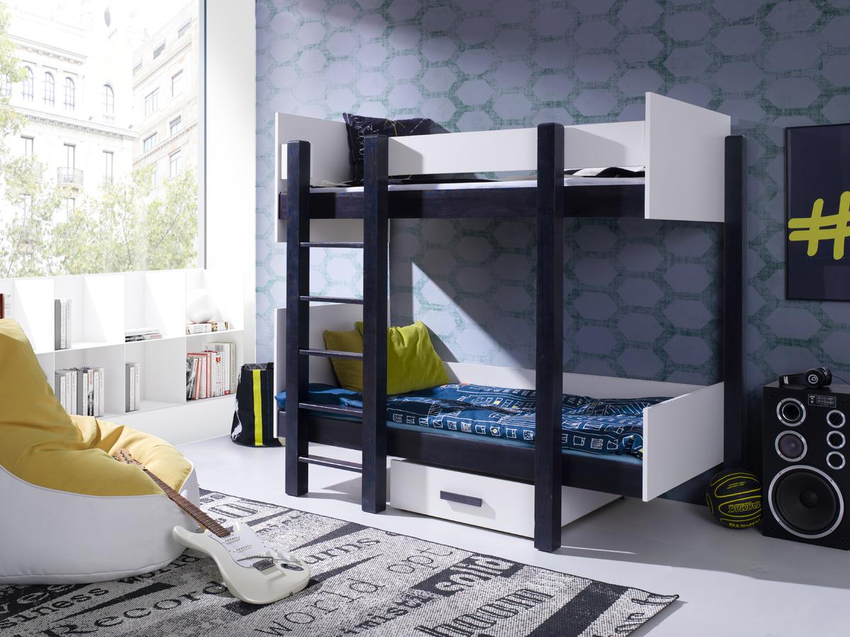 Detská posteľ Ourbaby Zora čierna 200x90 cm
