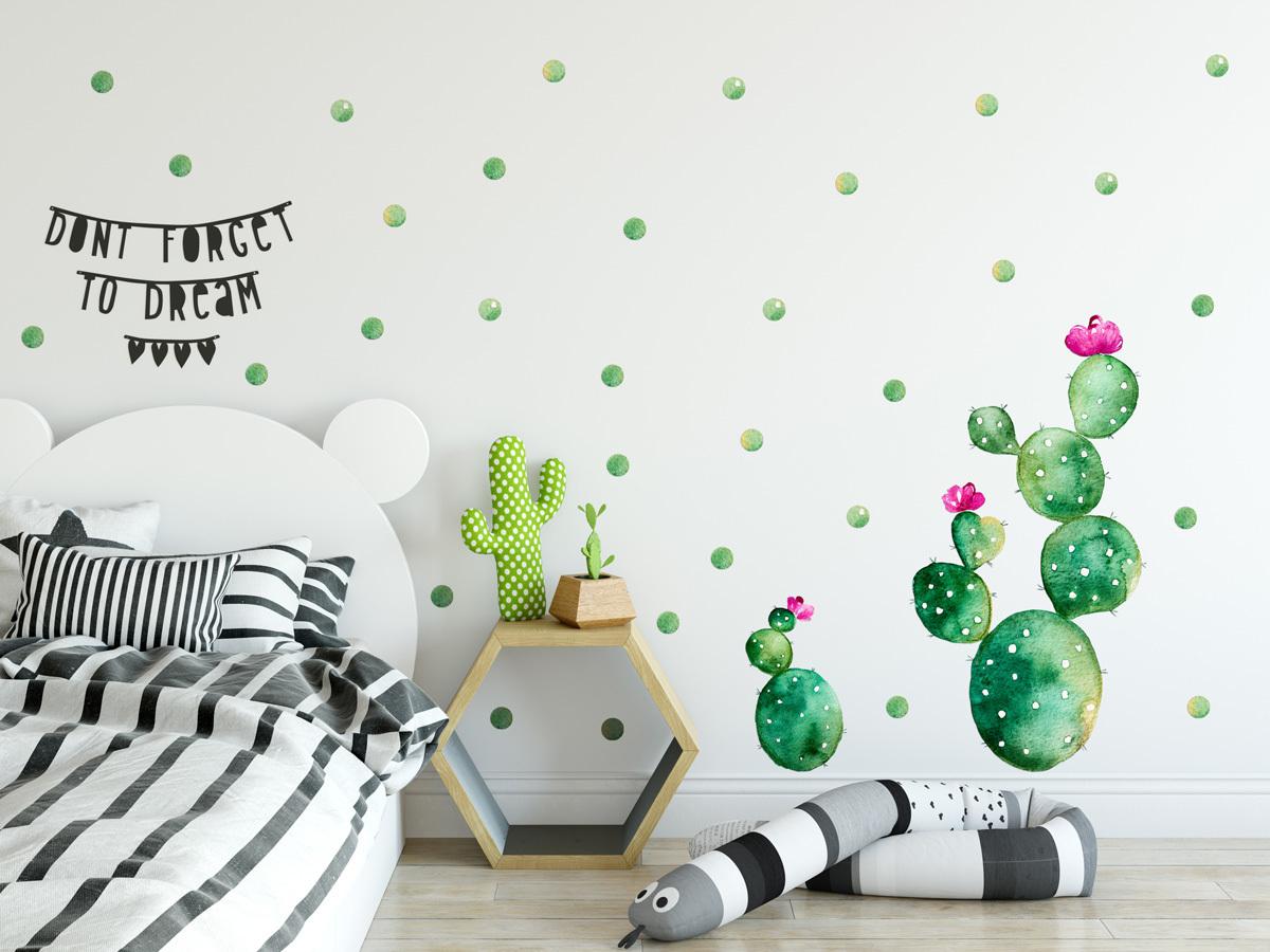 Dekorácia na stenu - kaktus 01