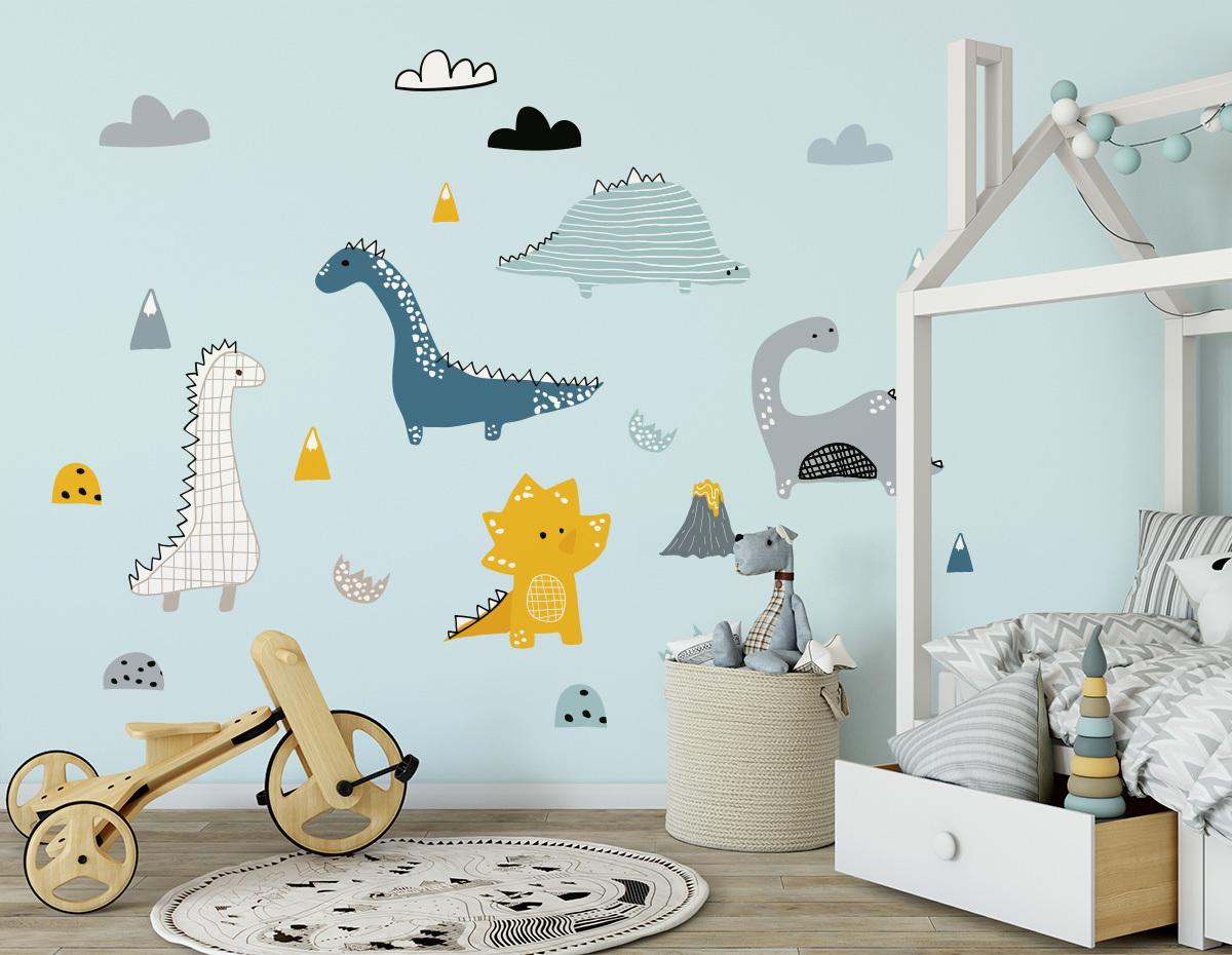Dekorácia na stenu - dinosaury