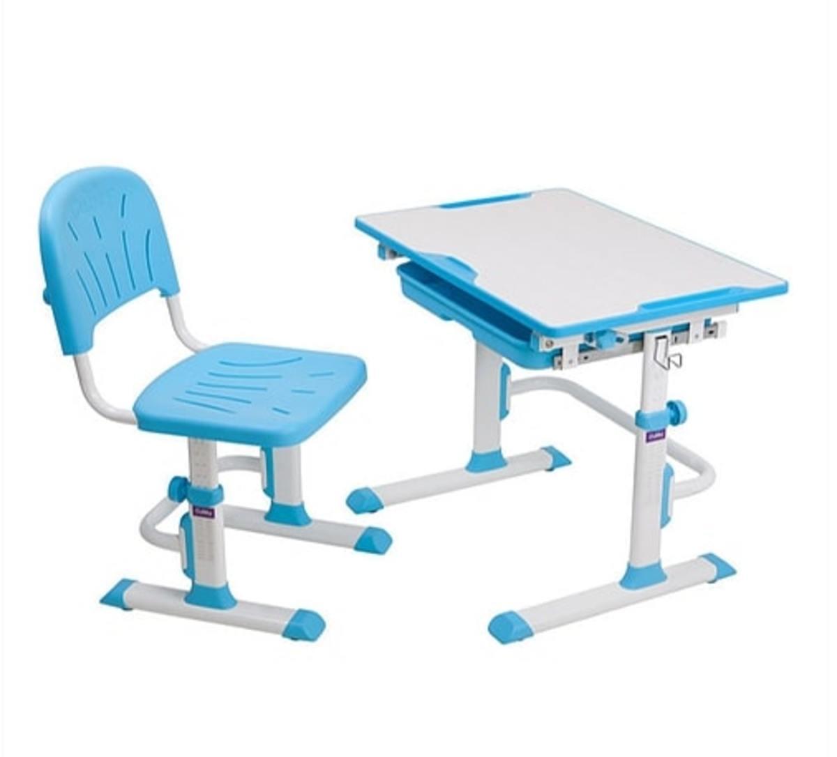 Detský písací stôl + stoličky Cubby Lupin - modrý