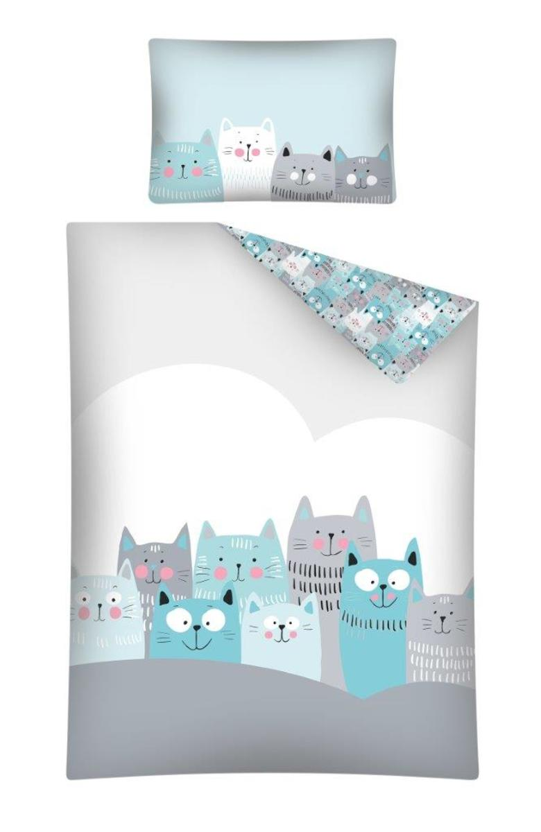 Detské obliečky Mačky 135x100 + 60x40 cm Cats