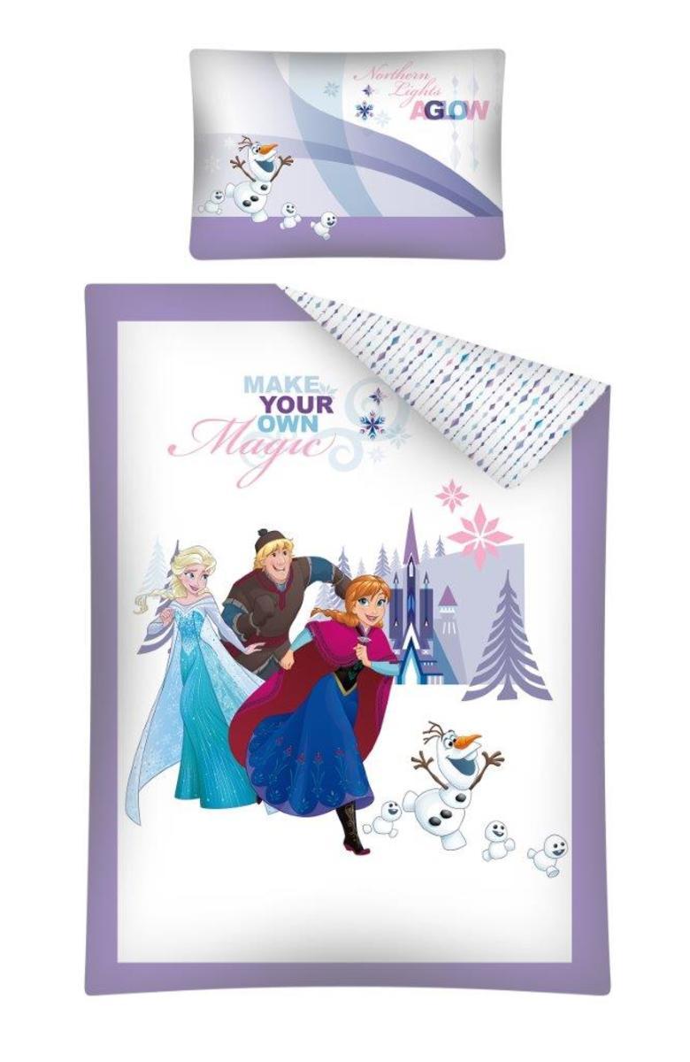 Detské obliečky Frozen Magic 135x100 + 60x40 cm