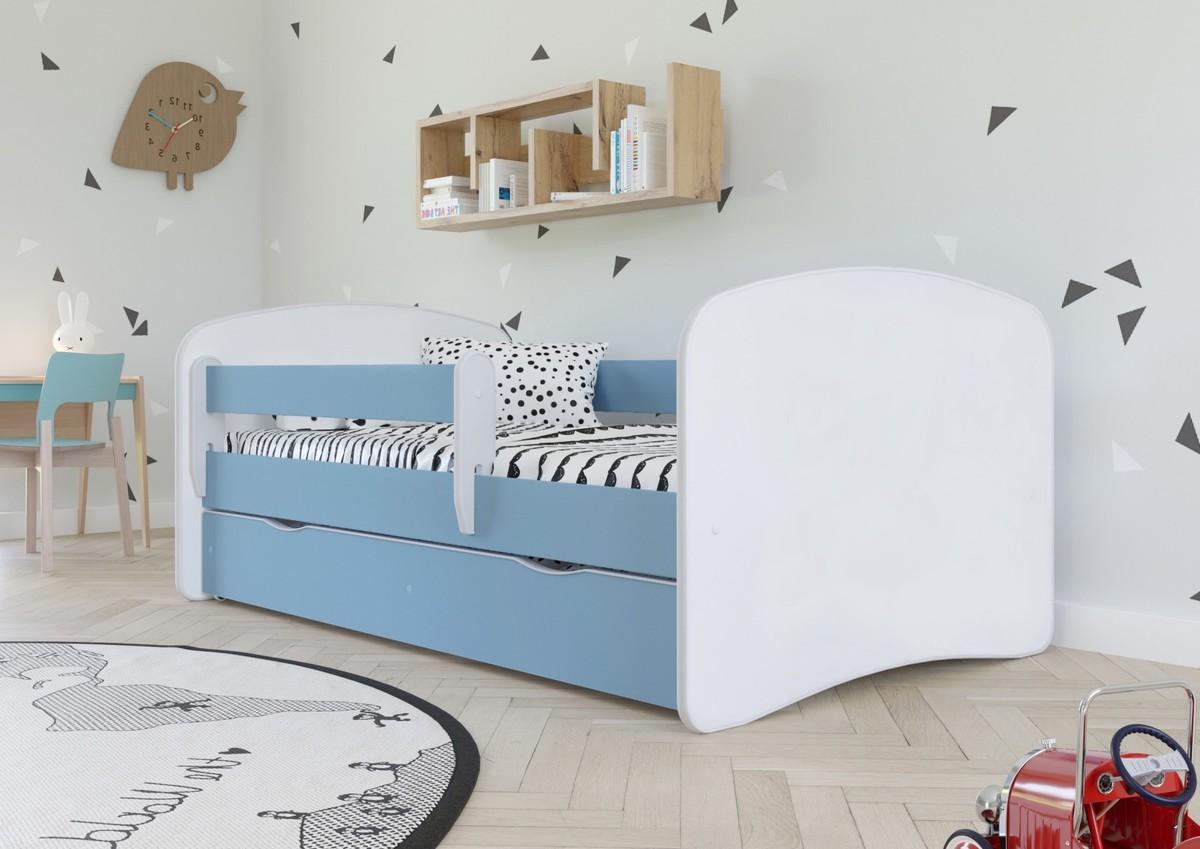 Detská posteľ Ourbaby Loki modrá 160x70 cm