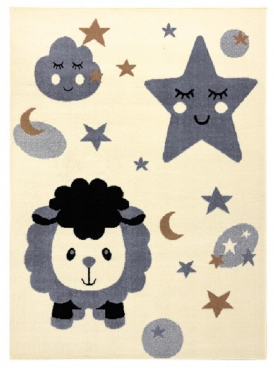 Detský koberec Ovečka - krémovo-šedý Sheep Rug 200 x 300 cm