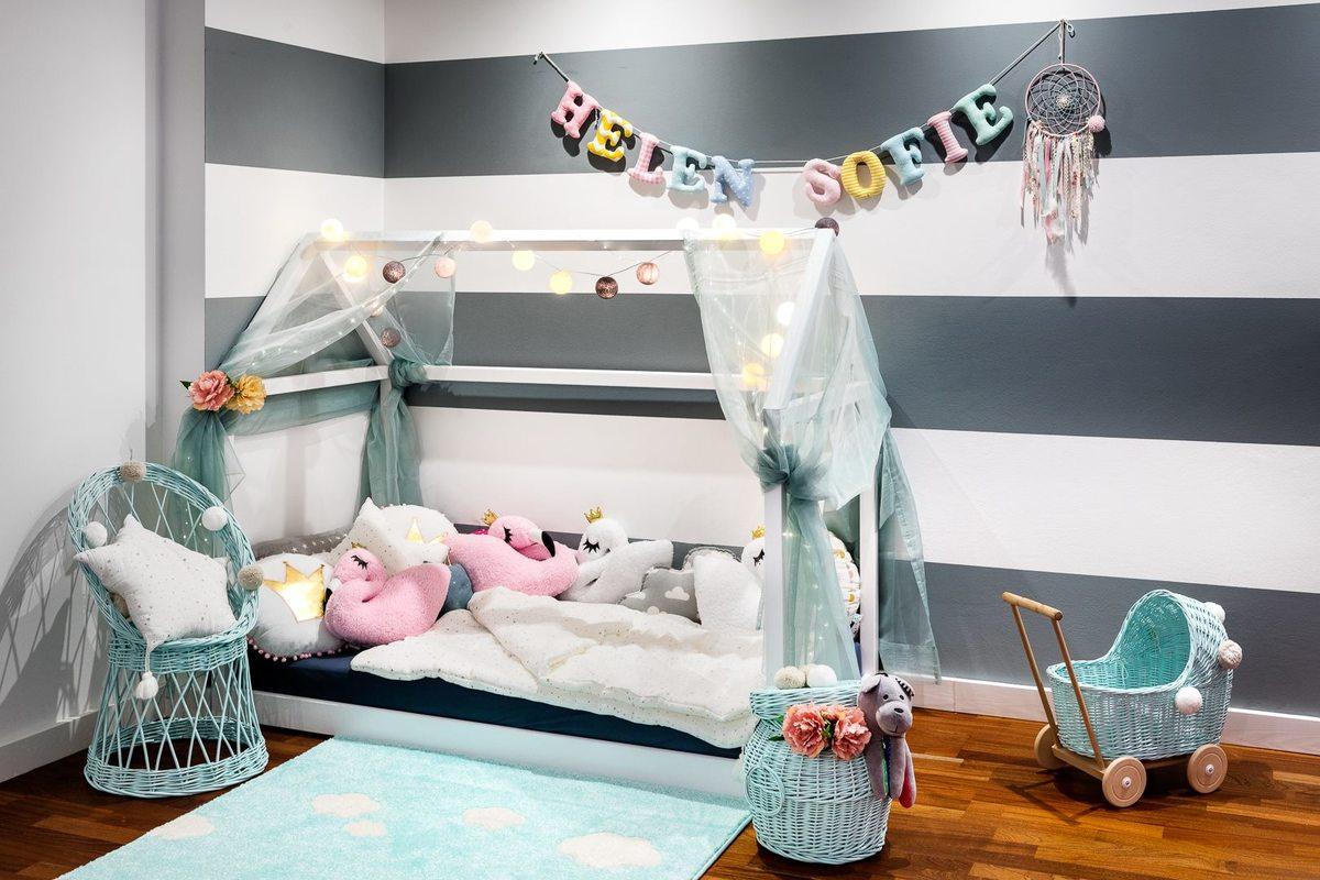 Detská posteľ - domček - rôzne farby House bed sivá