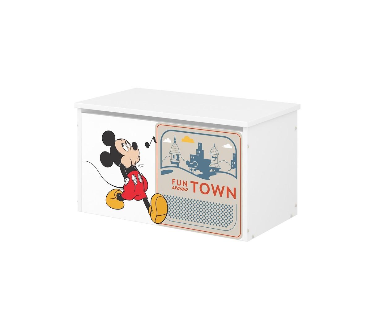 Drevená truhla na hračky Disney - Mickey a kamaráti toy chest Mouse Pluto