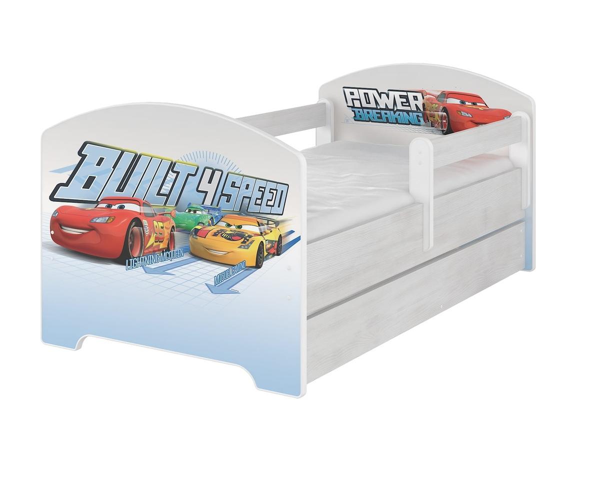 Detská posteľ Ourbaby Racing Cars biela 140x70 cm