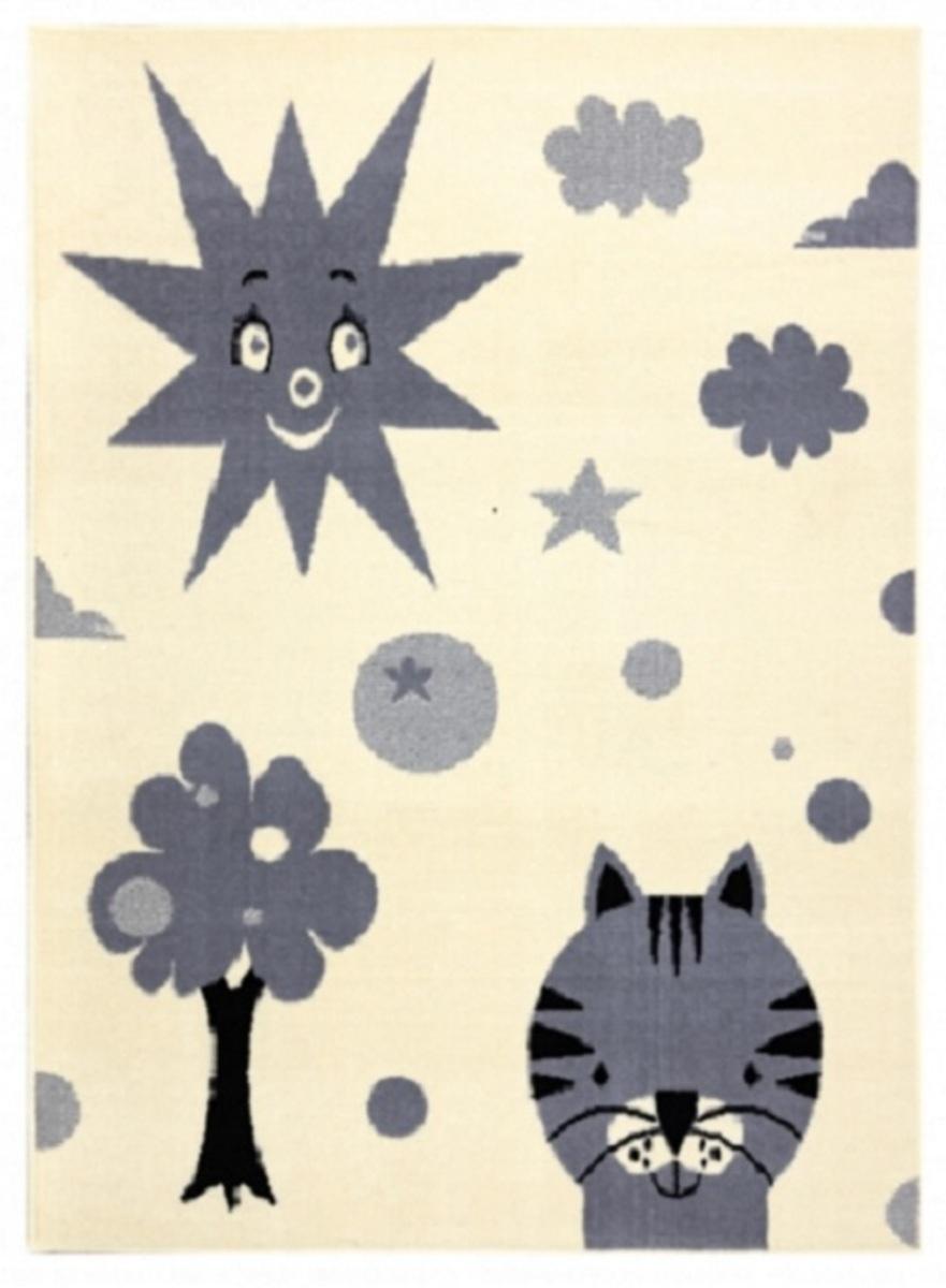 Detský koberec Slnko - krémovo-šedý Sun Rug 200 x 300 cm