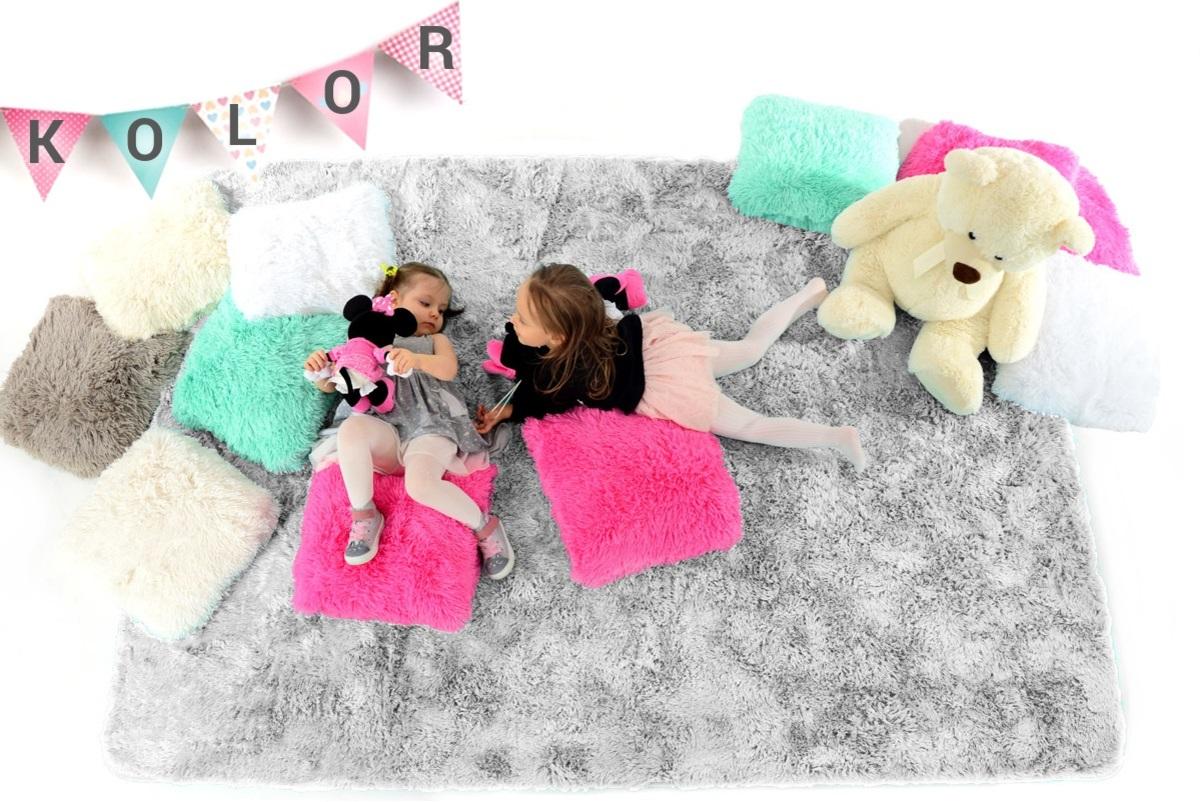 Detský plyšový koberec - Silver 70 x 120 cm