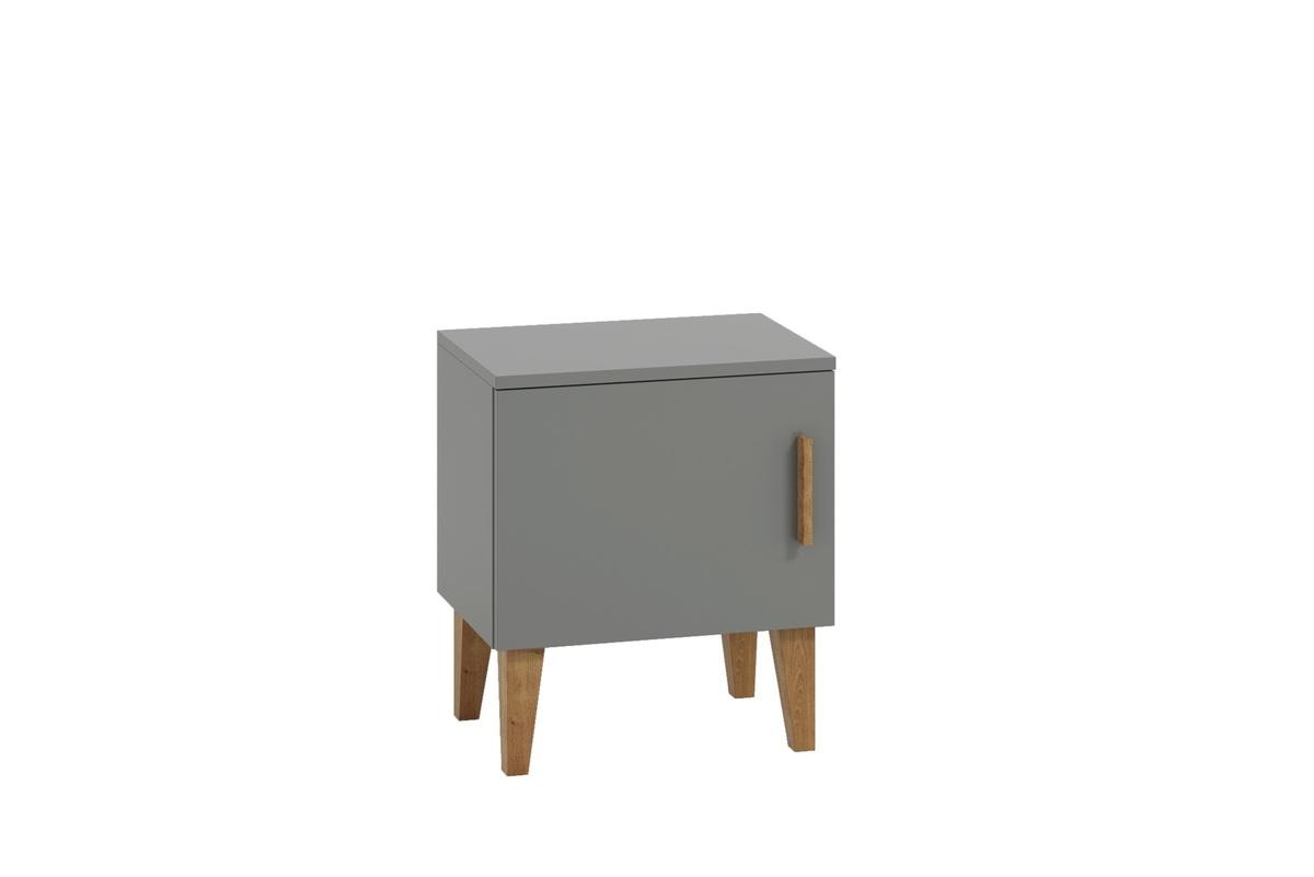 Detský nočný stolík KUBI Gray Scandi