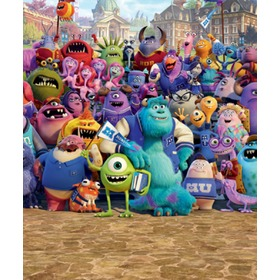 Detská 8 dielna fototapeta - Monsters University, Walltastic, Monsters University