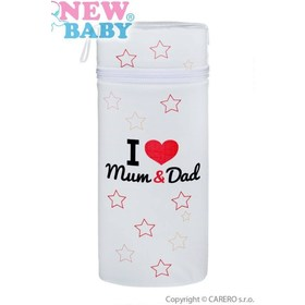 Termoobal Jumbo New Baby I love Mum and Dad biely Biela, carero
